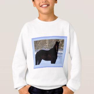 Sweatshirt Cheval noir de Morgan dans la neige