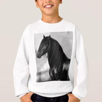 Sweatshirt Cheval noir frison fier d'étalon
