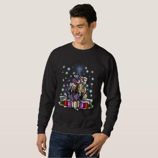 Sweatshirt Chevaux avec des styles de Noël