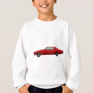 Sweatshirt Chevelle 1968 solides solubles : Finition rouge