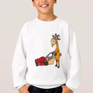 Sweatshirt Chèvre de Billy drôle poussant la bande dessinée