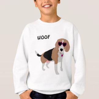 Sweatshirt Chien tricolore moderne de beagle