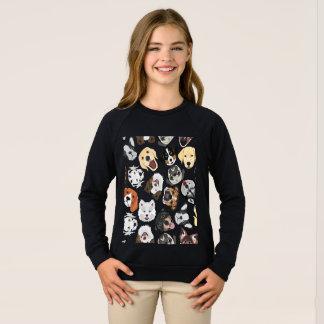 Sweatshirt Chiens de motif d'illustration