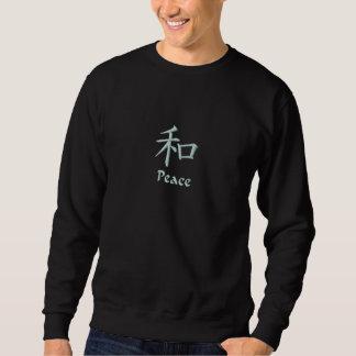 Sweatshirt chinois de symbole de paix (kanji)