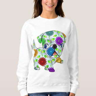 Sweatshirt Chiot de carlin - coloré