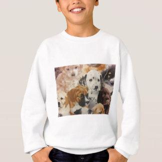 Sweatshirt Chiots de Dalmate et de boxeur