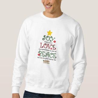 Sweatshirt chrétien d'amour et de paix de joie de