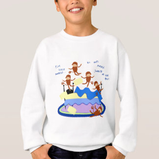 Sweatshirt cinq petits singes