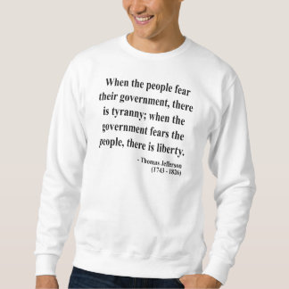 Sweatshirt Citation 5a de Thomas Jefferson