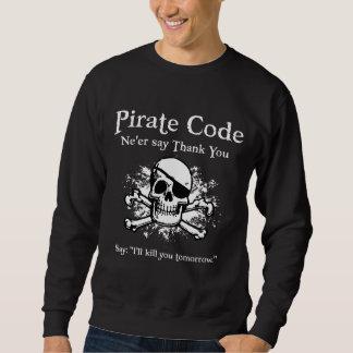 Sweatshirt Code de pirate : Merci