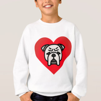 Sweatshirt Coeur de bouledogue