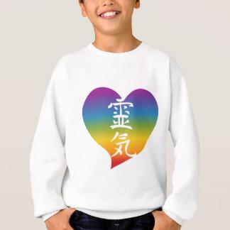 Sweatshirt Coeur de Reiki d'arc-en-ciel