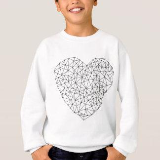 Sweatshirt Coeur géométrique