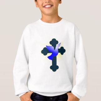 Sweatshirt Colombe et croix