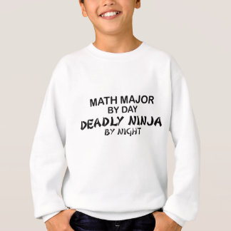 Sweatshirt Commandant de maths Ninja mortel par nuit