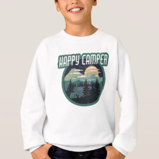 Sweatshirt conception affligée par camping rond de
