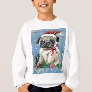 Sweatshirt Conception de chien de carlin de vacances