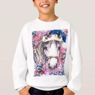 Sweatshirt Conception de rose de cheval de vacances