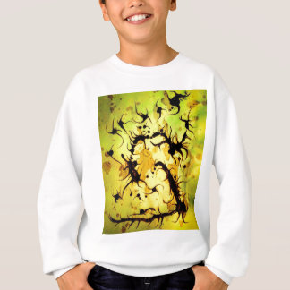 Sweatshirt Conception de tourbillonnement d'art de café