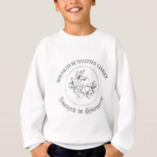 Sweatshirt conception française vintage de violettes de