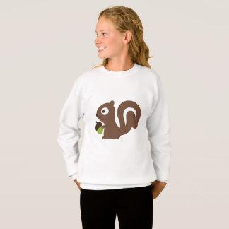 Sweatshirt Conception mignonne d'écureuil de bébé
