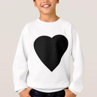 Sweatshirt Conception noire et blanche de coeur d'amour