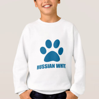 SWEATSHIRT CONCEPTIONS RUSSES DE CAT DE BLANC