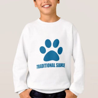 SWEATSHIRT CONCEPTIONS TRADITIONNELLES DE CAT SIAMOIS