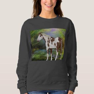 Sweatshirt Copie de cheval de peinture de Tovero d'oseille