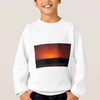 Sweatshirt Coucher du soleil rouge de lueur