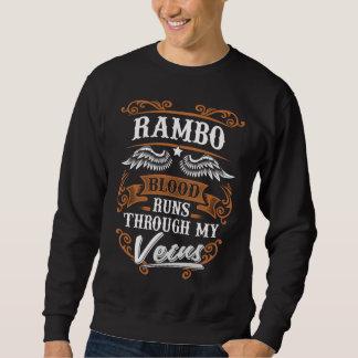 Sweatshirt Courses de sang de RAMBO par mon Veius
