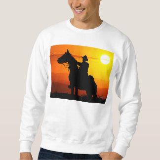Sweatshirt Cowboy-Cowboy-soleil-occidental-pays de coucher du