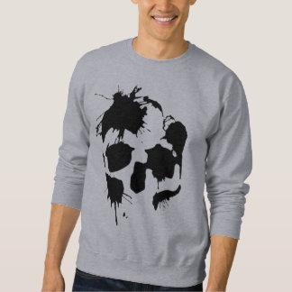 Sweatshirt Crâne d'éclaboussure d'encre