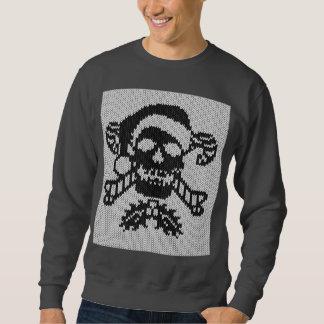 Sweatshirt Crâne d'os croisés de Père Noël dans le style laid