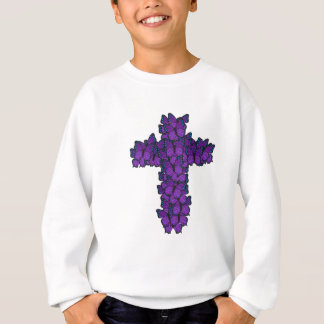 Sweatshirt Croix pourpre de papillon