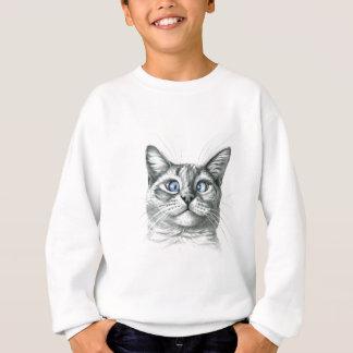 Sweatshirt Cross Eyed cat G122