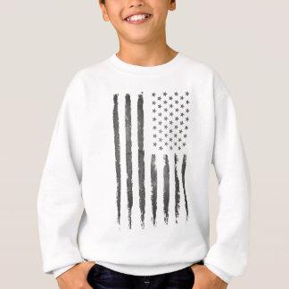Sweatshirt Cru gris militaire de drapeau d'Armerican