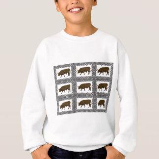 Sweatshirt cubes bruns en taureaux