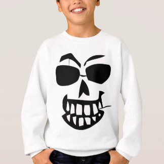 Sweatshirt cure-dents de Halloween-visage