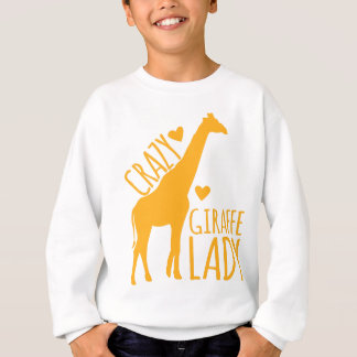 Sweatshirt dame folle de girafe