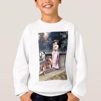 Sweatshirt Dame victorienne avec des animaux familiers de