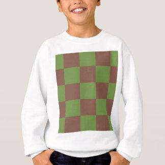Sweatshirt Damier vert de Brown