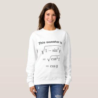 Sweatshirt de calembour des maths des femmes