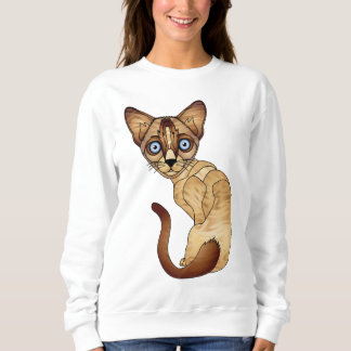 Sweatshirt de chat siamois
