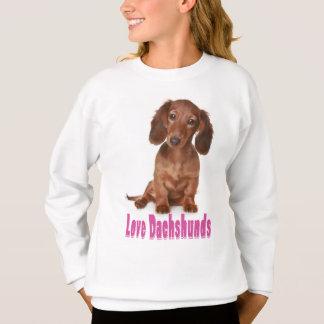 Sweatshirt de chiot de teckel d'amour