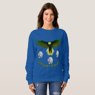 Sweatshirt de dames d'Eagle du football du Brésil