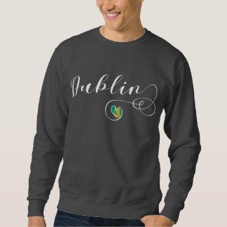 Sweatshirt de Dublin de coeur, Irlande, irlandaise