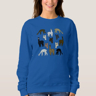 Sweatshirt de femelle de roche d'alpaga