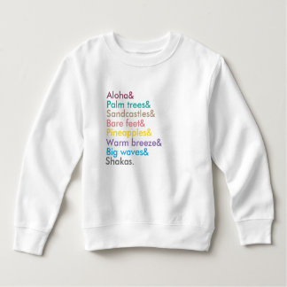 sweatshirt de filles aloha