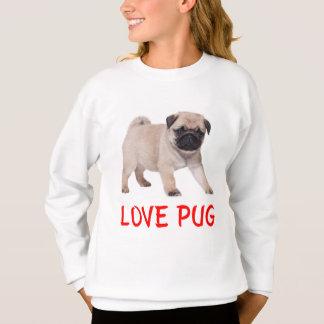 Sweatshirt de filles de chiot de carlin d'amour
